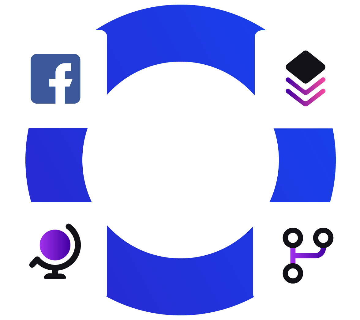 Circle with facebook